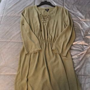 Mossimo Forest Green Quarter Sleeve Dress